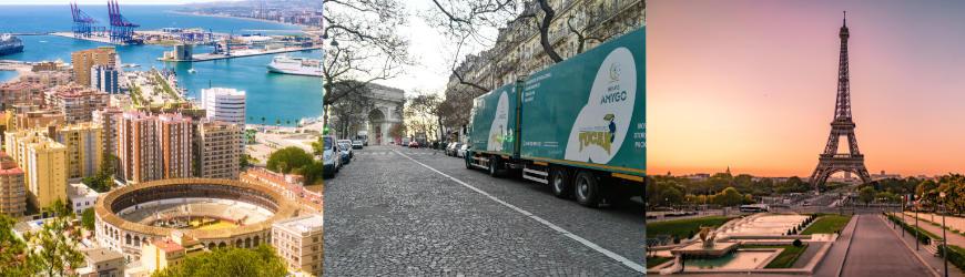 Mudanzas  Málaga a París